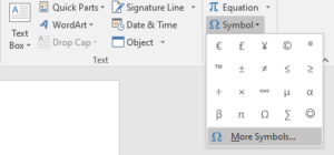 How To Insert Degree Symbol in Word?