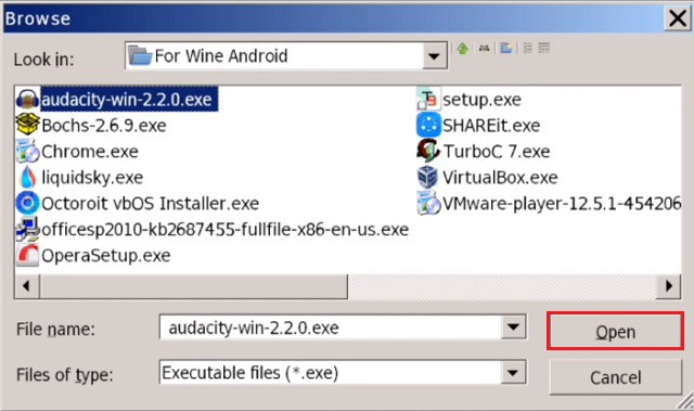 how to run exe files on android