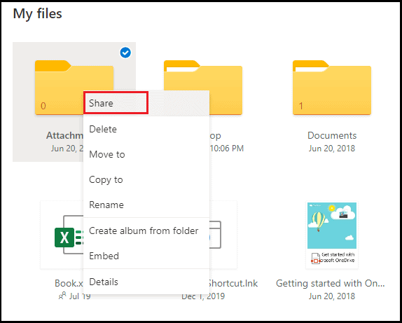 how to share documents on onedrive