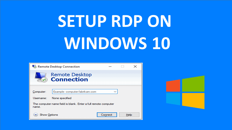 how to set up rdp on windows 10