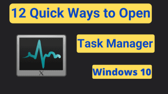 how to open task manager on windows 10