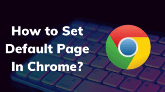 how to set default page in chrome