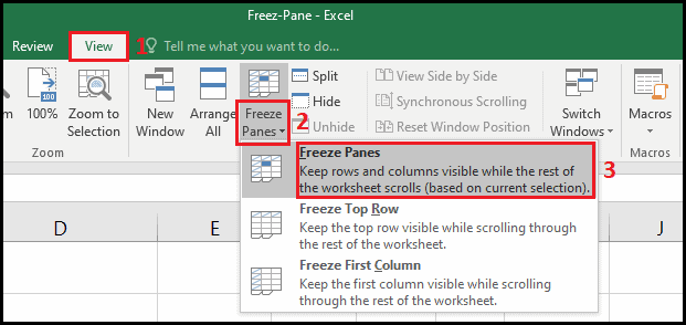 how to freeze multiple panes in excel