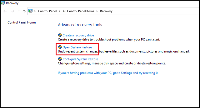 how to restore windows 10 to a previous date